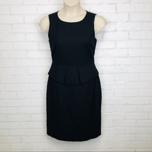 J Crew Black Sheath Dress sz 8